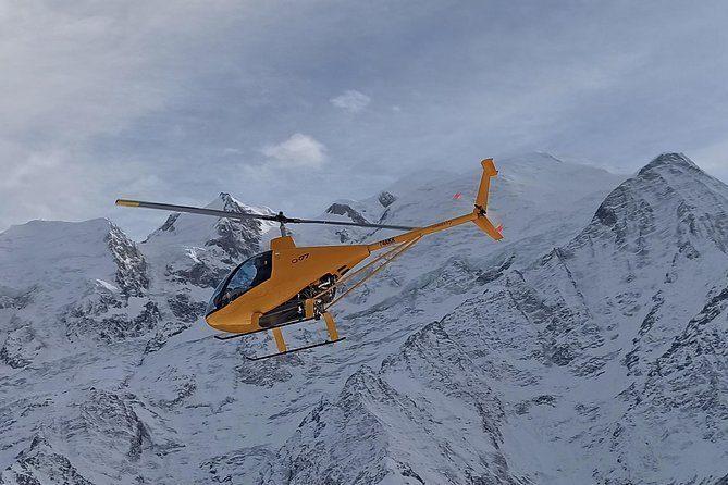 Survol en hélicoptère d'1h au-dessus de Chamonix et des Alpes