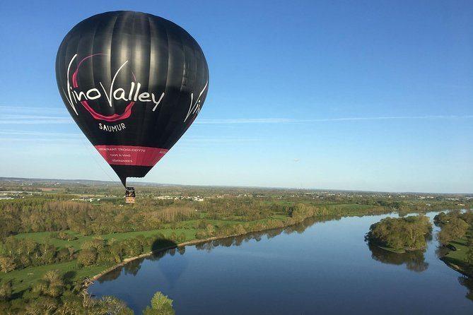 Vol en montgolfière au-dessus de la Loire depuis Saumur